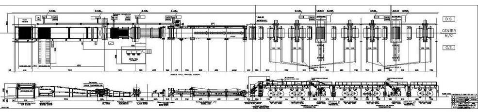 Схема гофроагрегата
